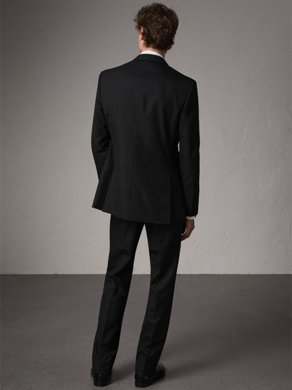 Classic Fit Wool Part-canvas Suit in Black - Men | Burberry - cell image 2