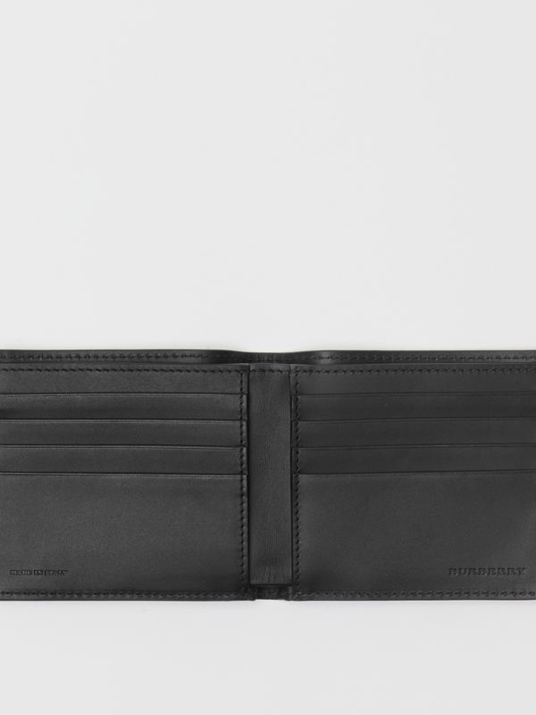 Graffiti Print Leather International Bifold Wallet in Black - Men | Burberry - cell image 2