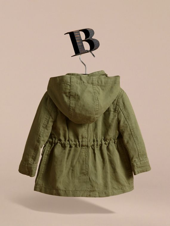 Cotton Linen Parka with Packaway Hood - cell image 3