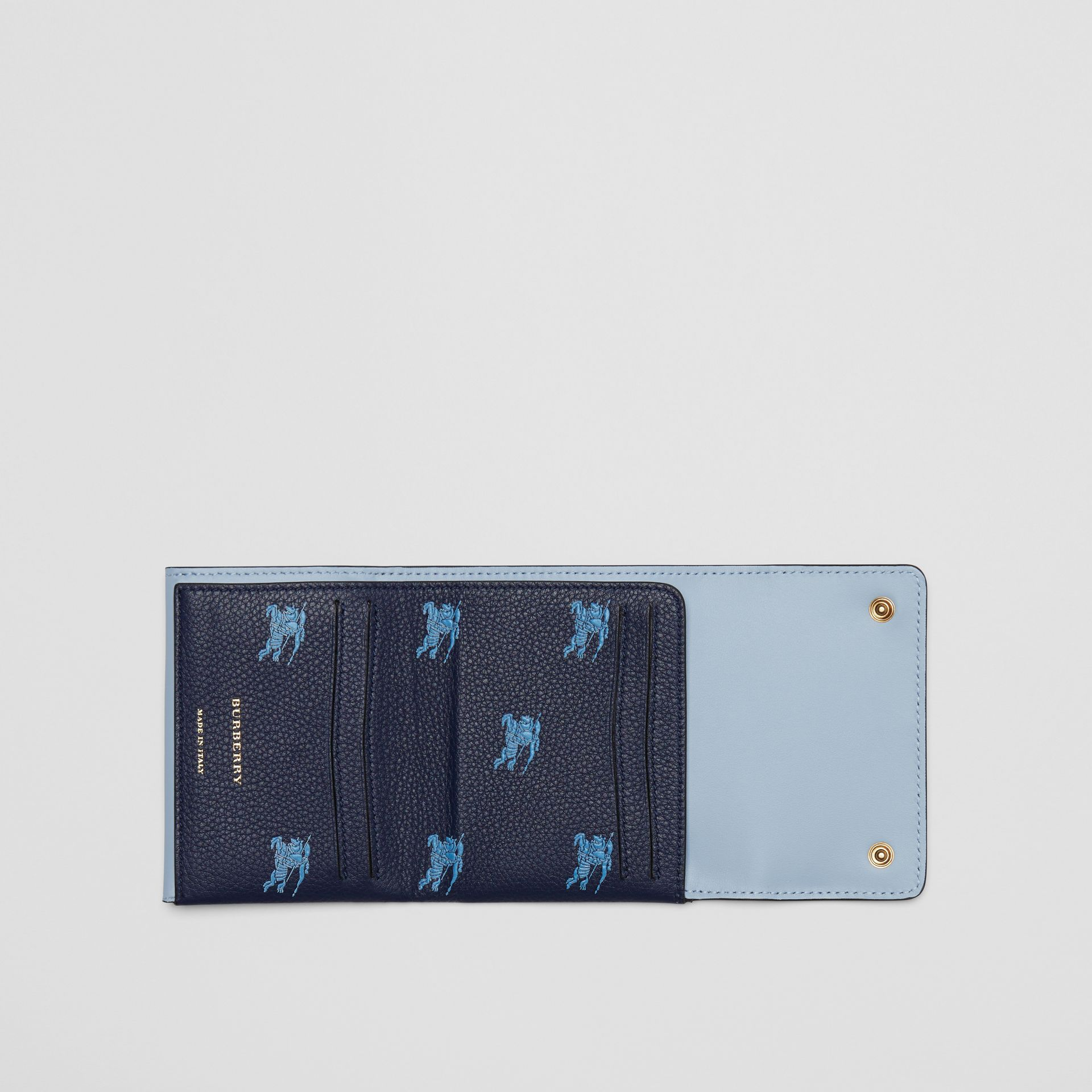 Small EKD Leather Wallet in Regency Blue - Women | Burberry - gallery image 2