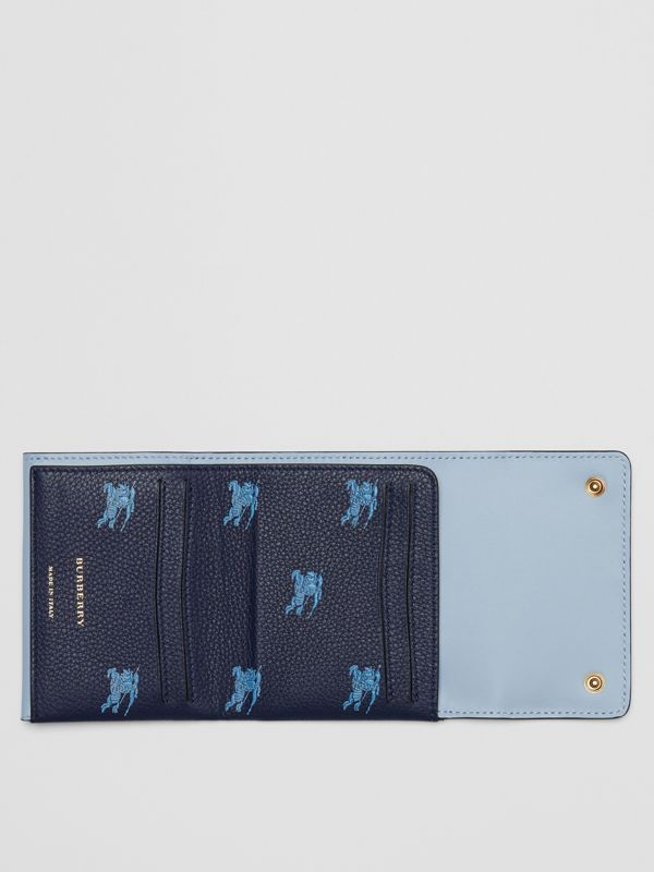 Small EKD Leather Wallet in Regency Blue - Women | Burberry - cell image 2