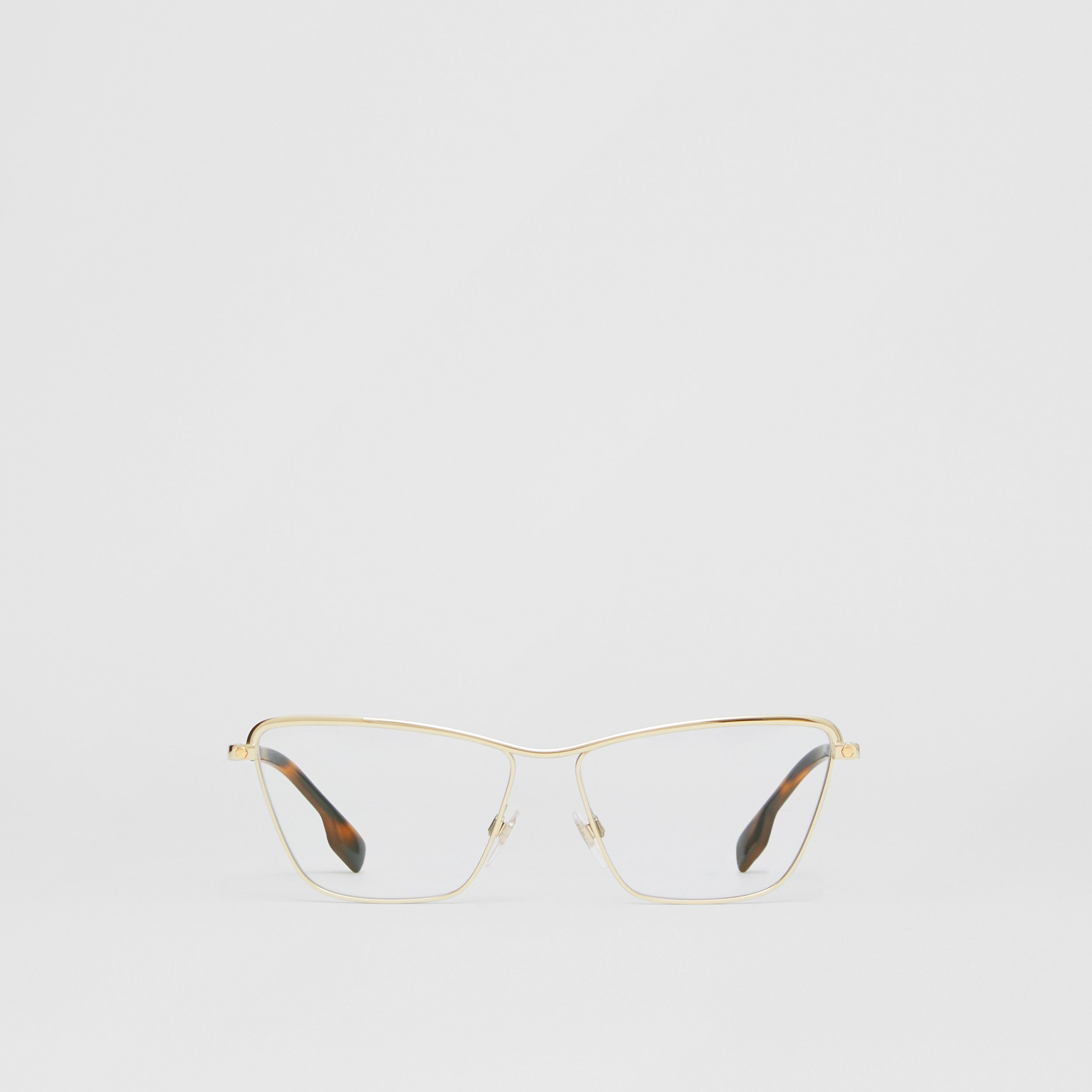 Rectangular Optical Frames in Light Gold - Women | Burberry - 1