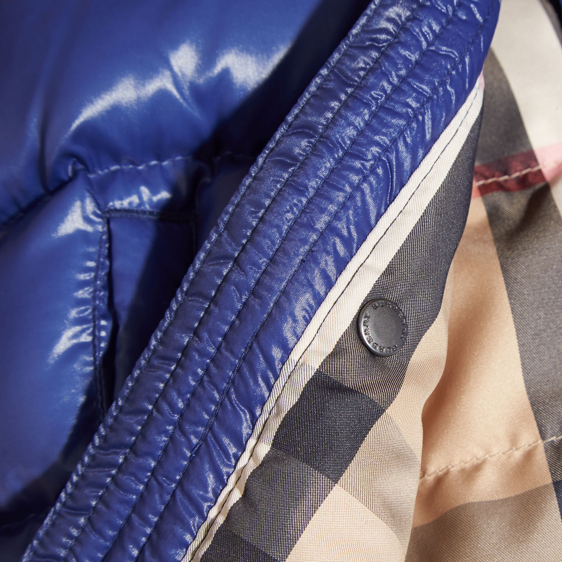 Bright navy Two-tone Down-filled Jacket - gallery image 2