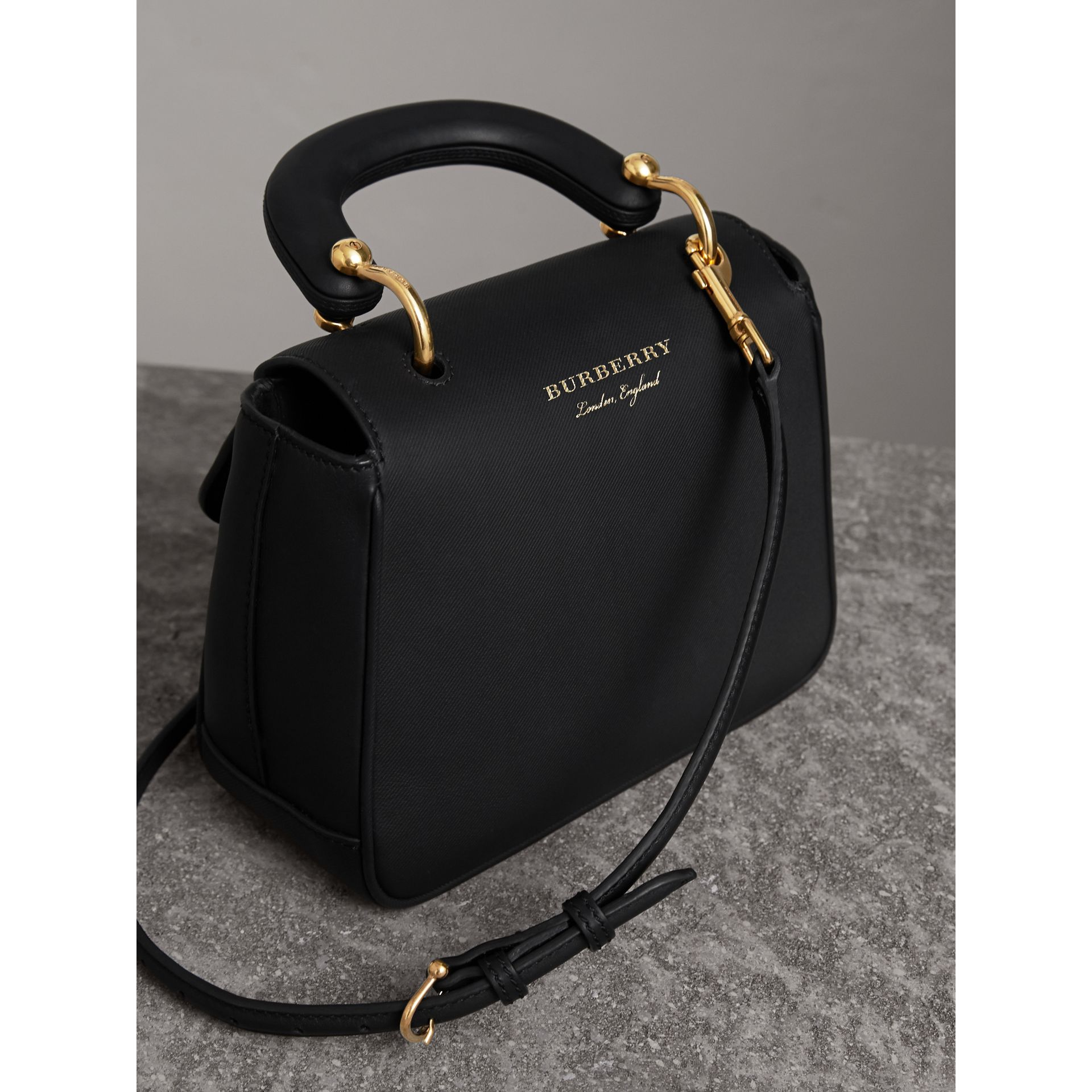The Small DK88 Top Handle Bag in Black - Women | Burberry - gallery image 4