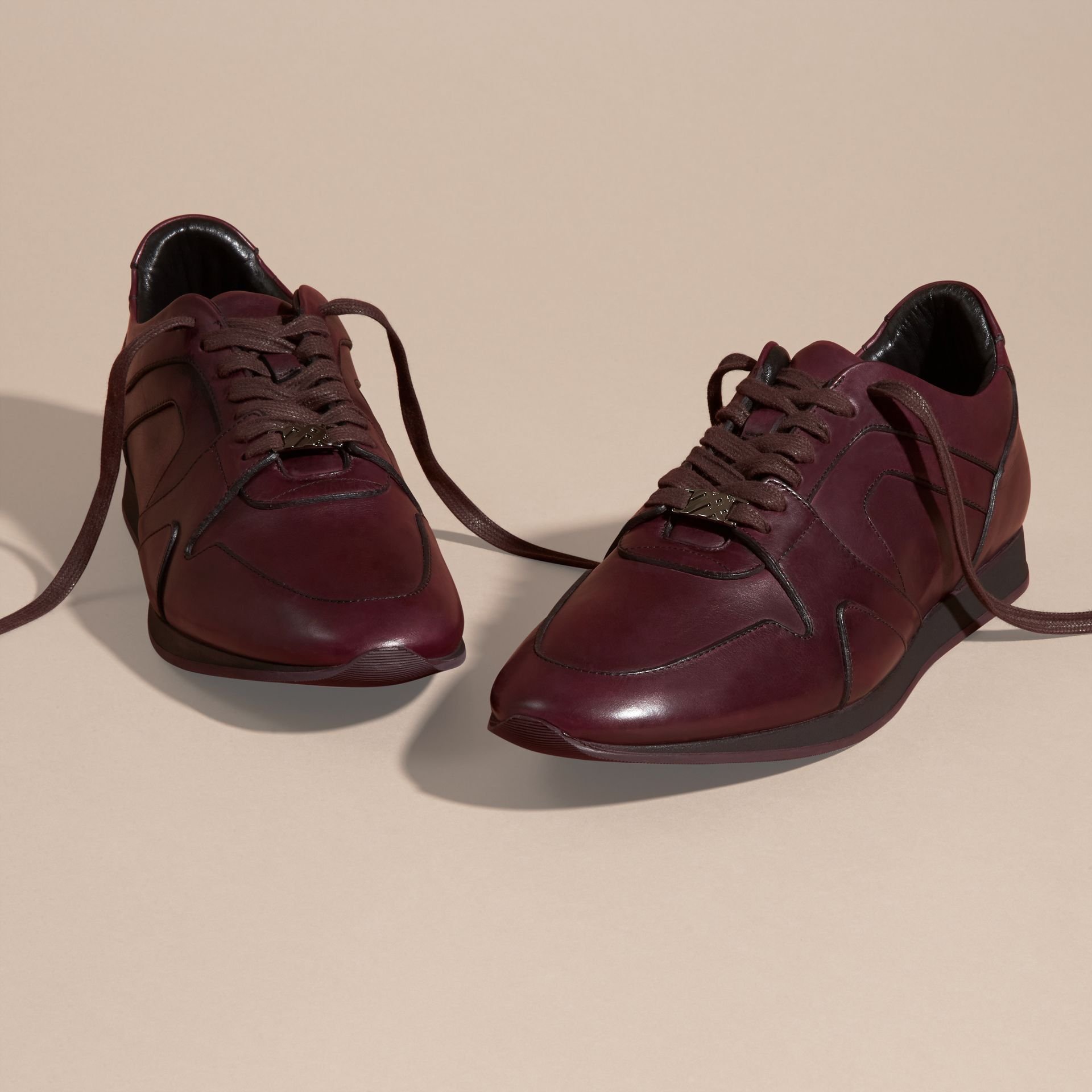 Elderberry The Field Sneaker in Leather Elderberry - gallery image 3