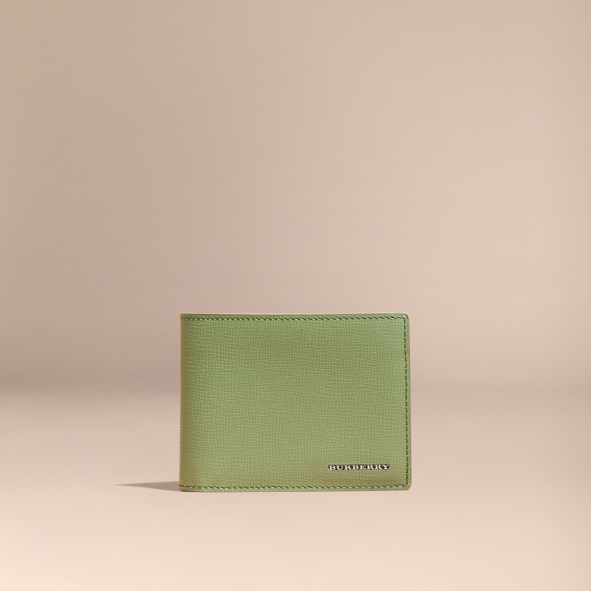 London Leather Slim Folding Wallet Antique Green - gallery image 3