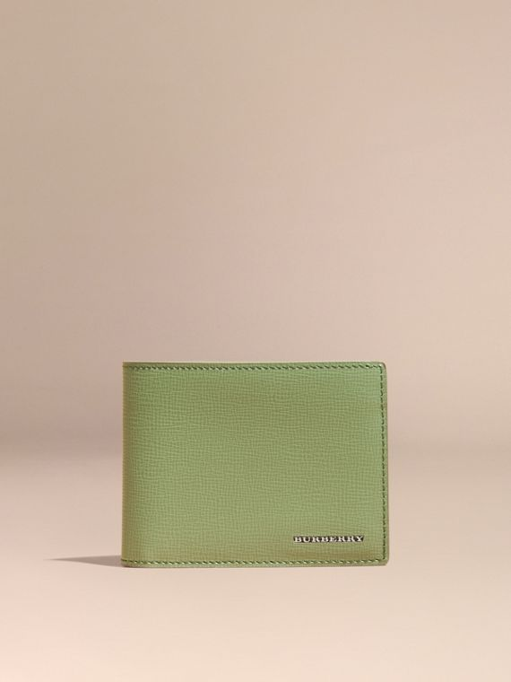 London Leather Slim Folding Wallet Antique Green - cell image 2
