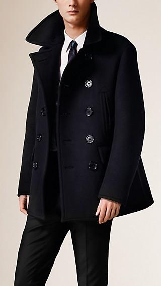 Bonded Cashmere Pea coat