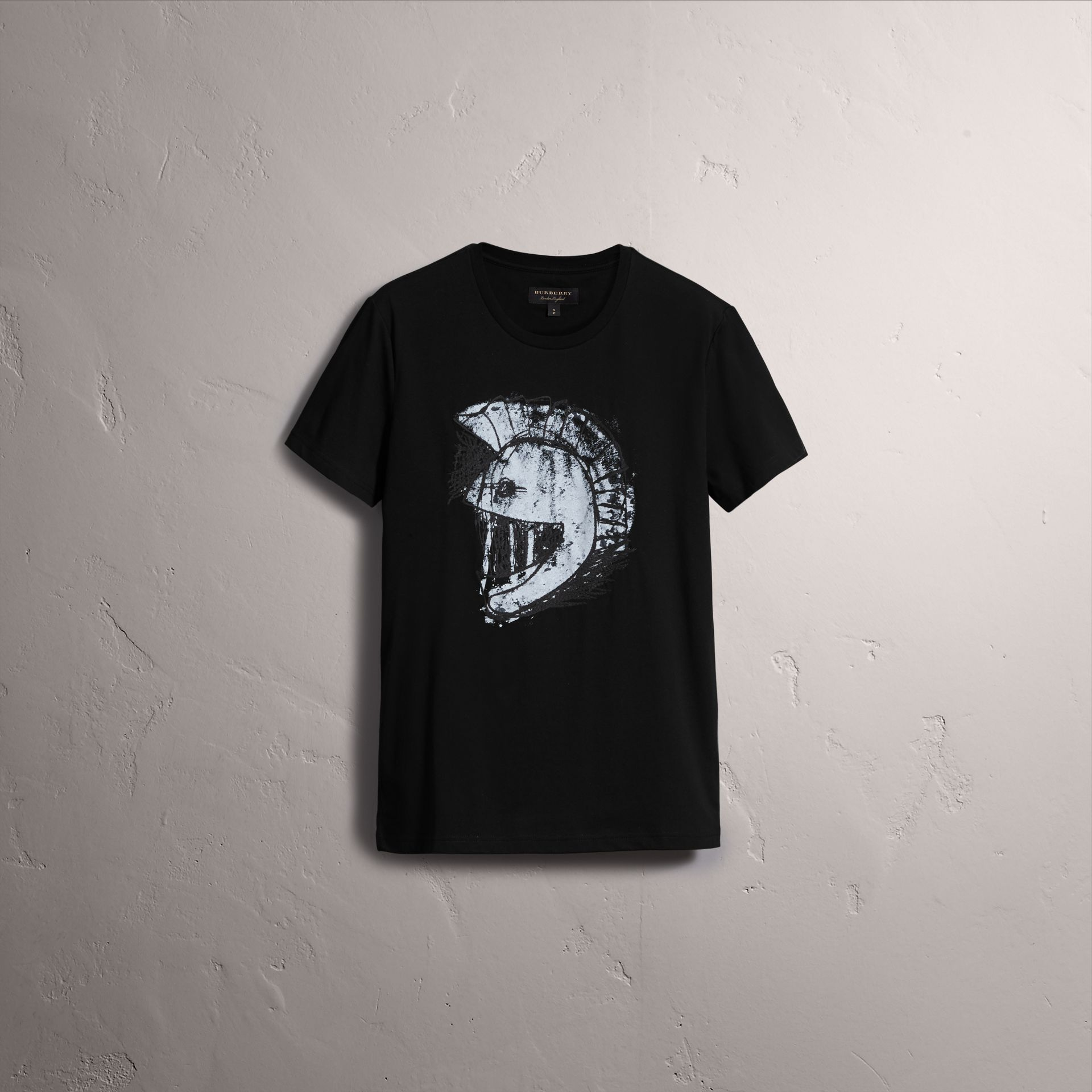 Pallas Helmet Print Cotton T-shirt - Men | Burberry - gallery image 4