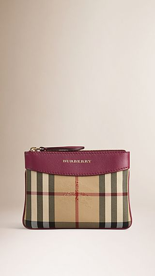 Horseferry Check and Leather Pouch