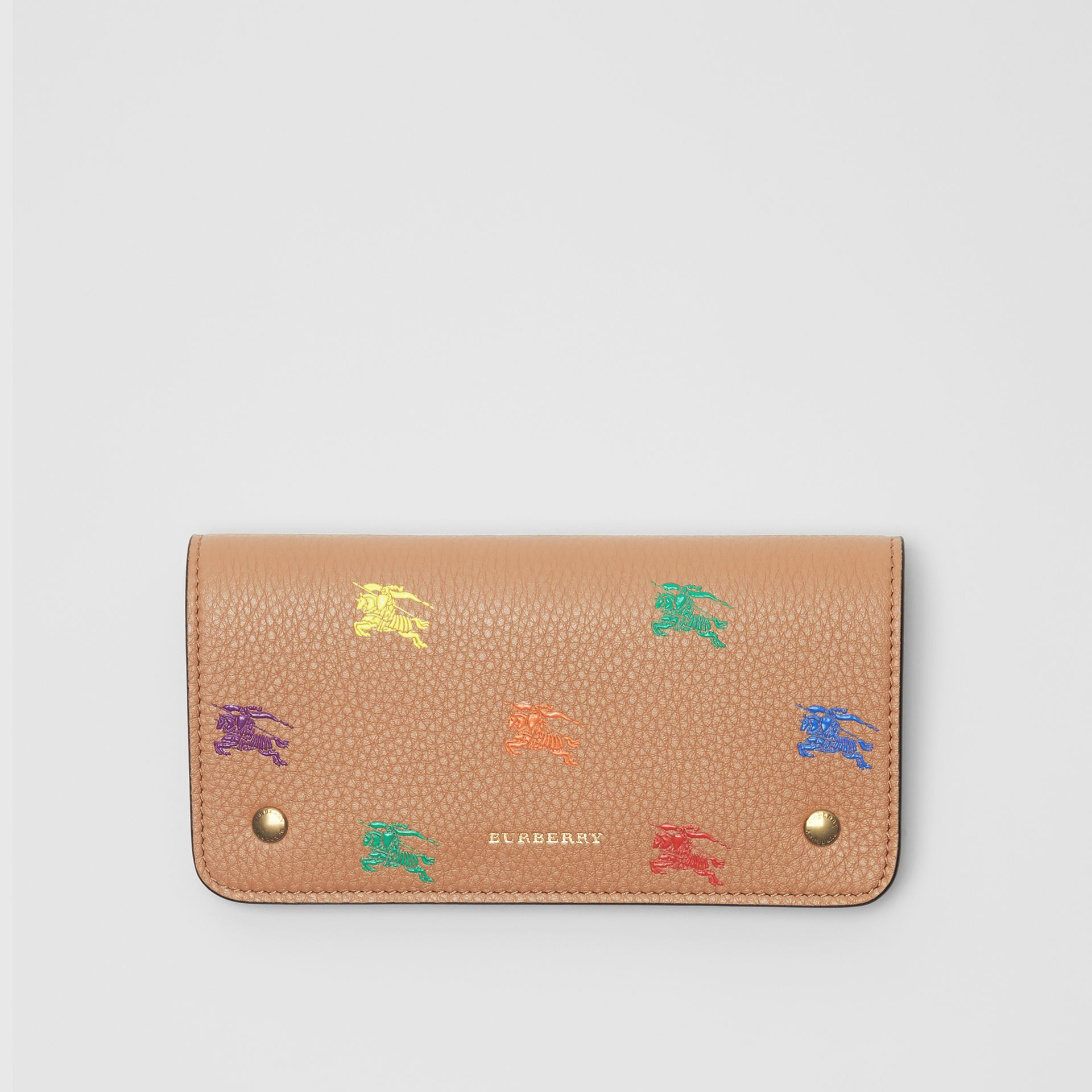 EKD Leather Phone Wallet in Light Camel - Women | Burberry Singapore - gallery image 0
