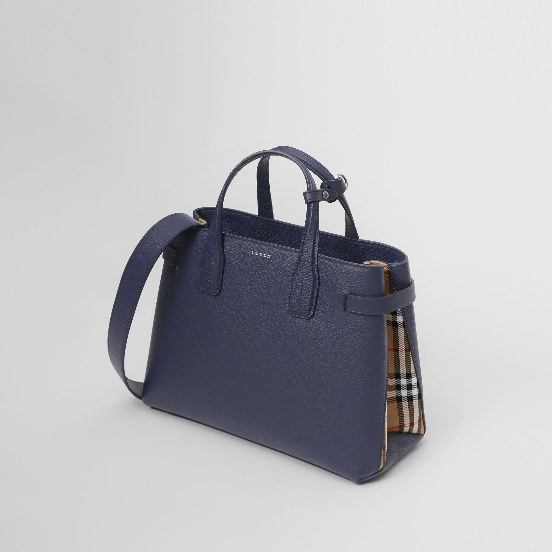 The Medium Banner in Leather and Vintage Check in Regency Blue - Women | Burberry - gallery image 3