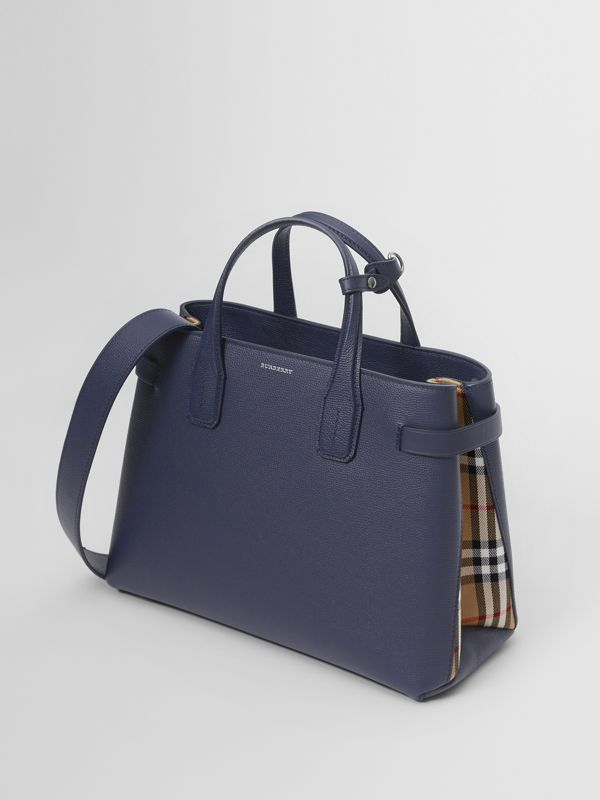 The Medium Banner in Leather and Vintage Check in Regency Blue - Women | Burberry - cell image 3