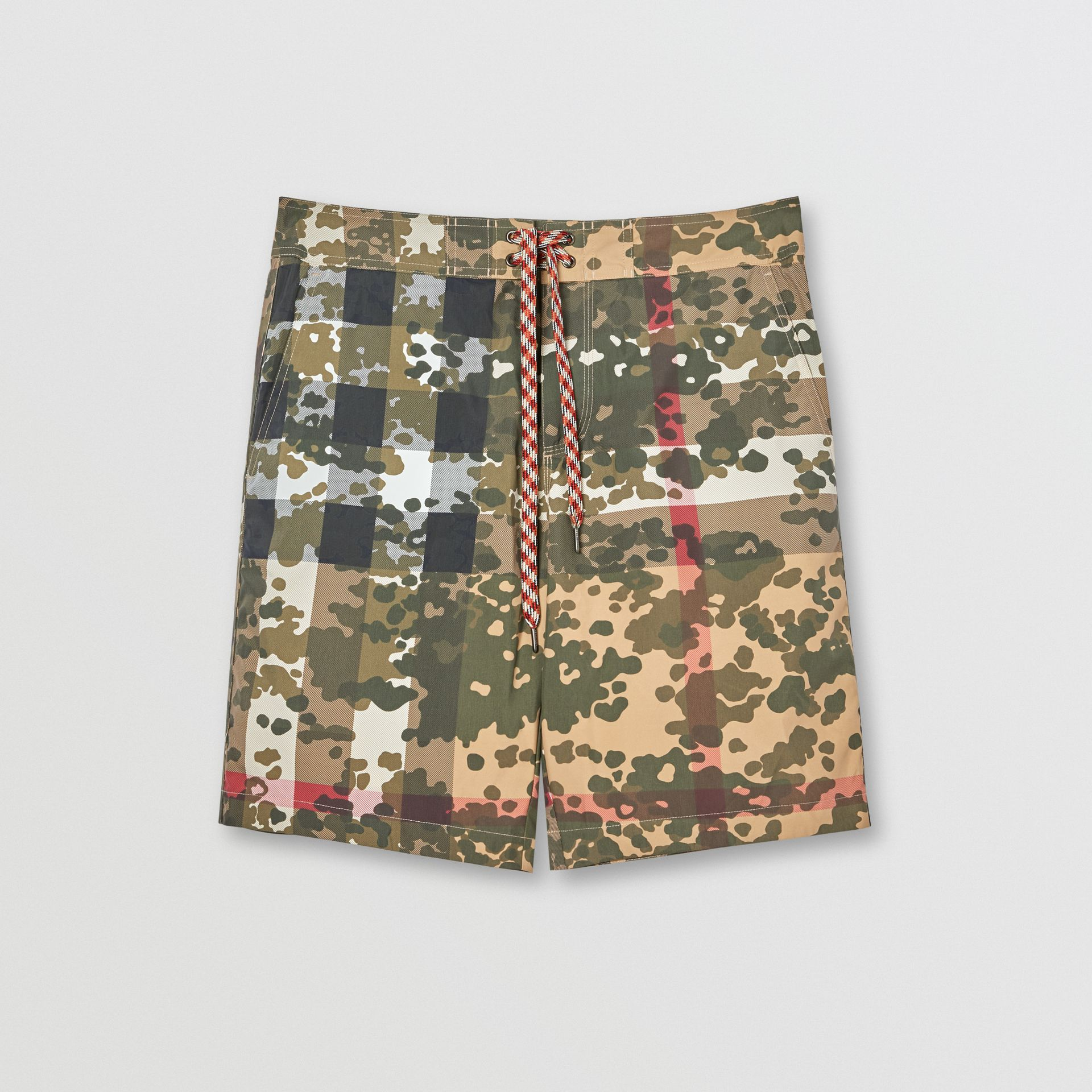 Camouflage Check Swim Shorts in Archive Beige | Burberry - gallery image 2