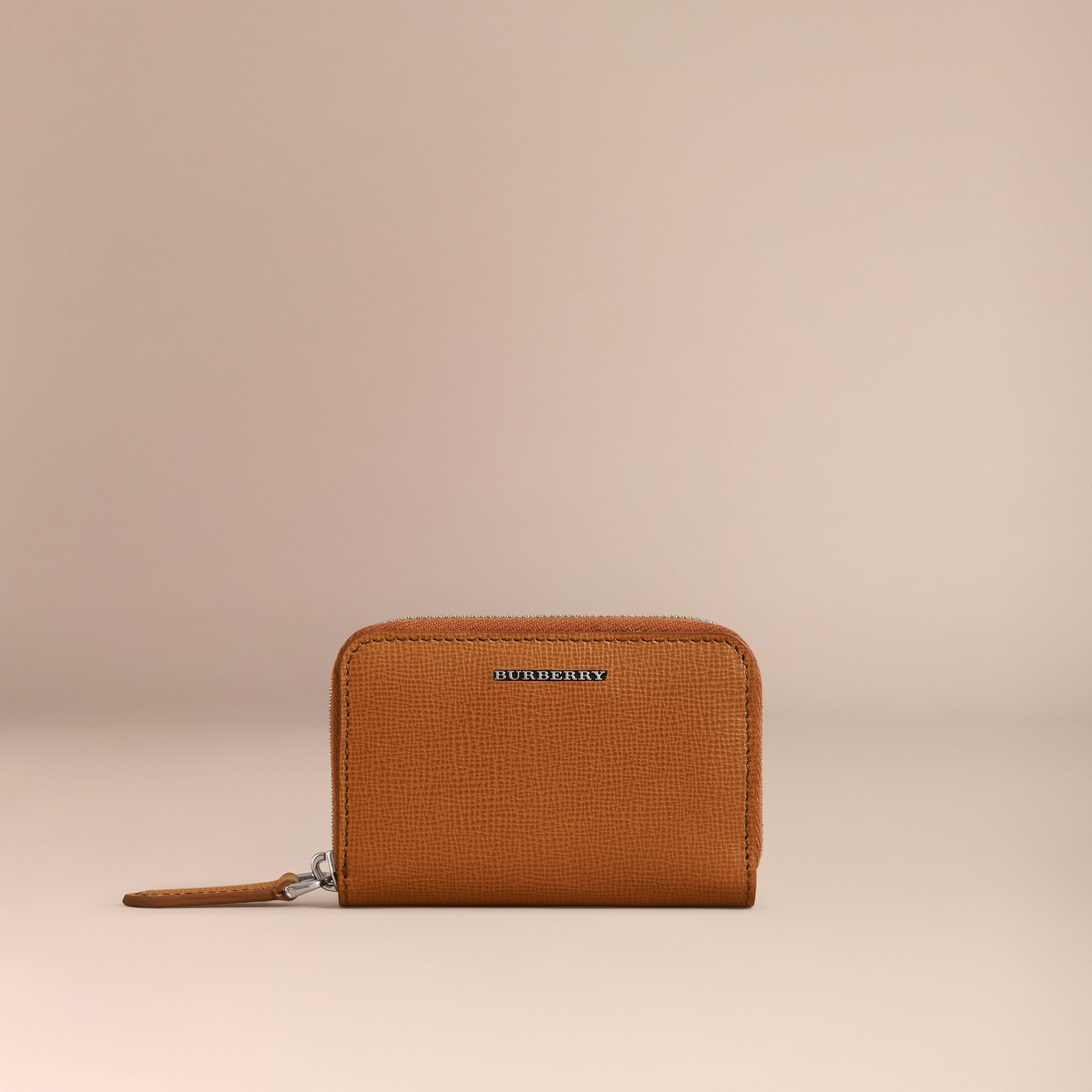 London Leather Ziparound Coin Case in Tan | Burberry Canada - gallery image 3