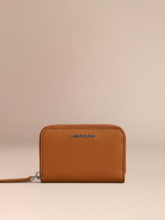 London Leather Ziparound Coin Case in Tan | Burberry - cell image 2