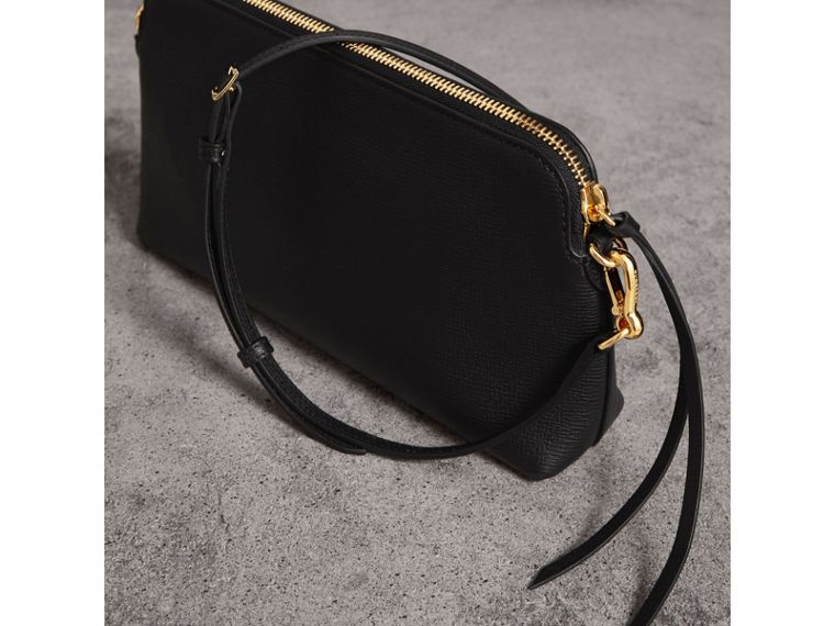 Grainy Leather Clutch Bag in Black - Women | Burberry - cell image 4
