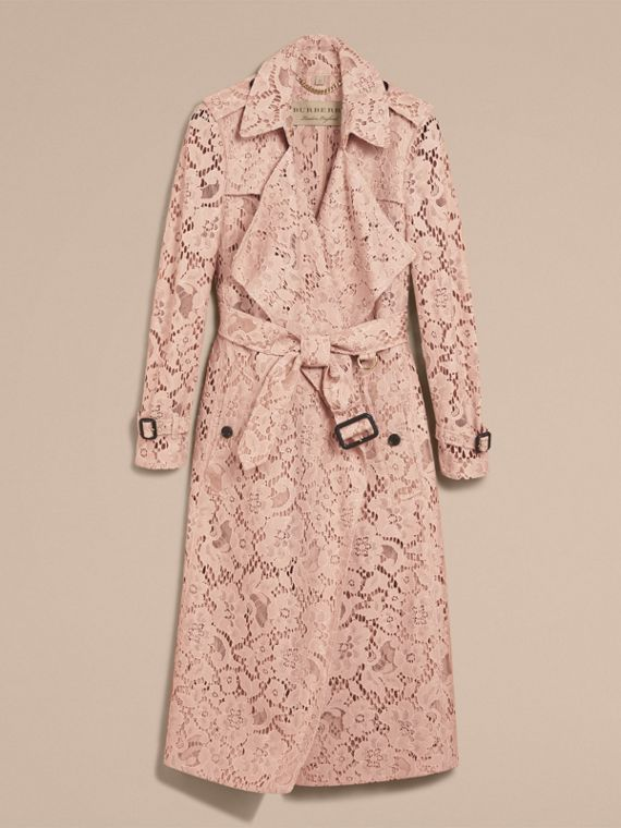 Macramé Lace Wrap Trench Coat in Nude - Women | Burberry United States - cell image 3