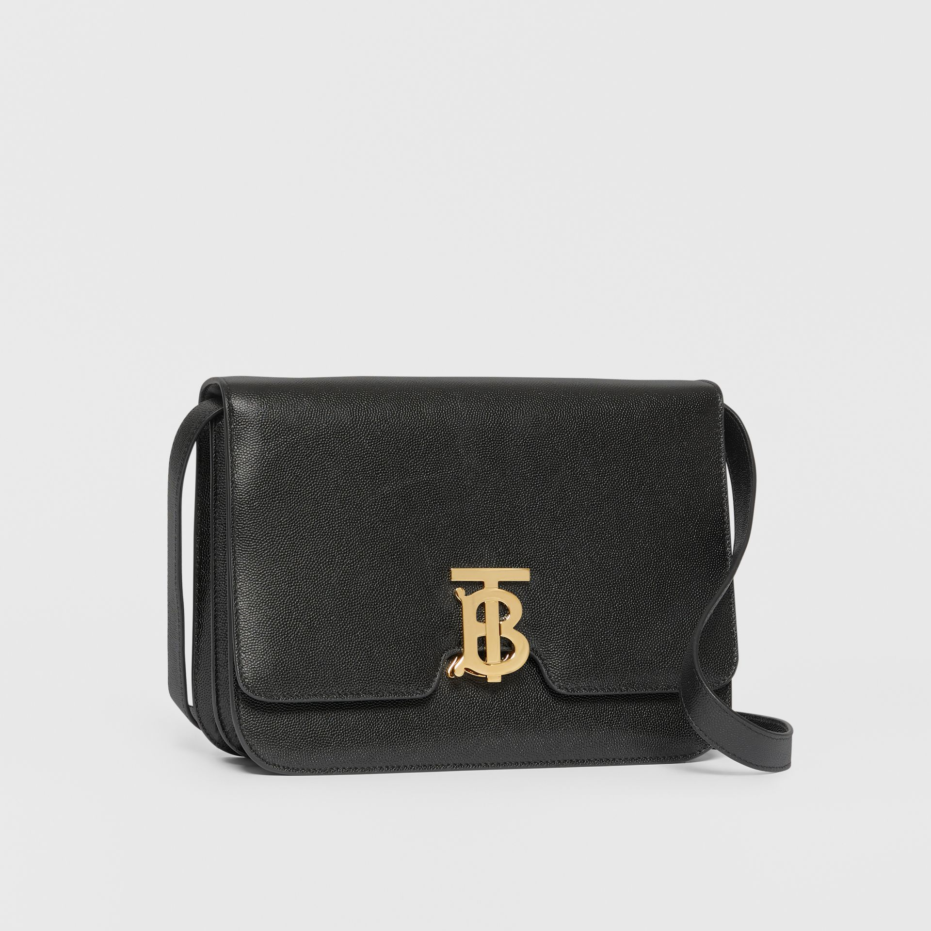 Medium Grainy Leather TB Bag in Black - Women | Burberry - gallery image 6