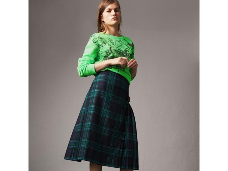 蘇格蘭格紋羊毛蘇格蘭裙 (松柏綠) - 女款 | Burberry - cell image 4