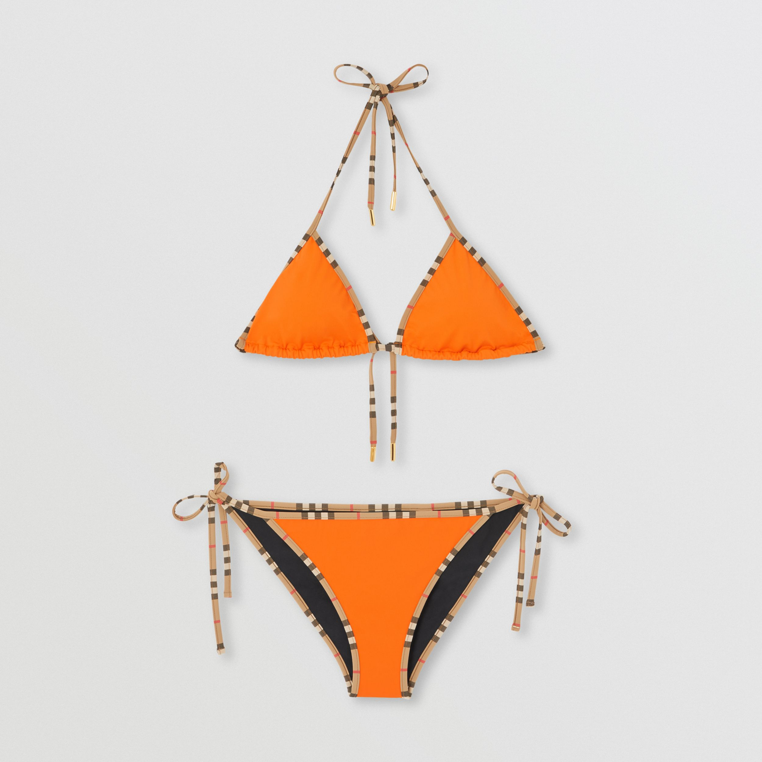 Icon Stripe Trim Triangle Bikini - Women | Burberry - 3