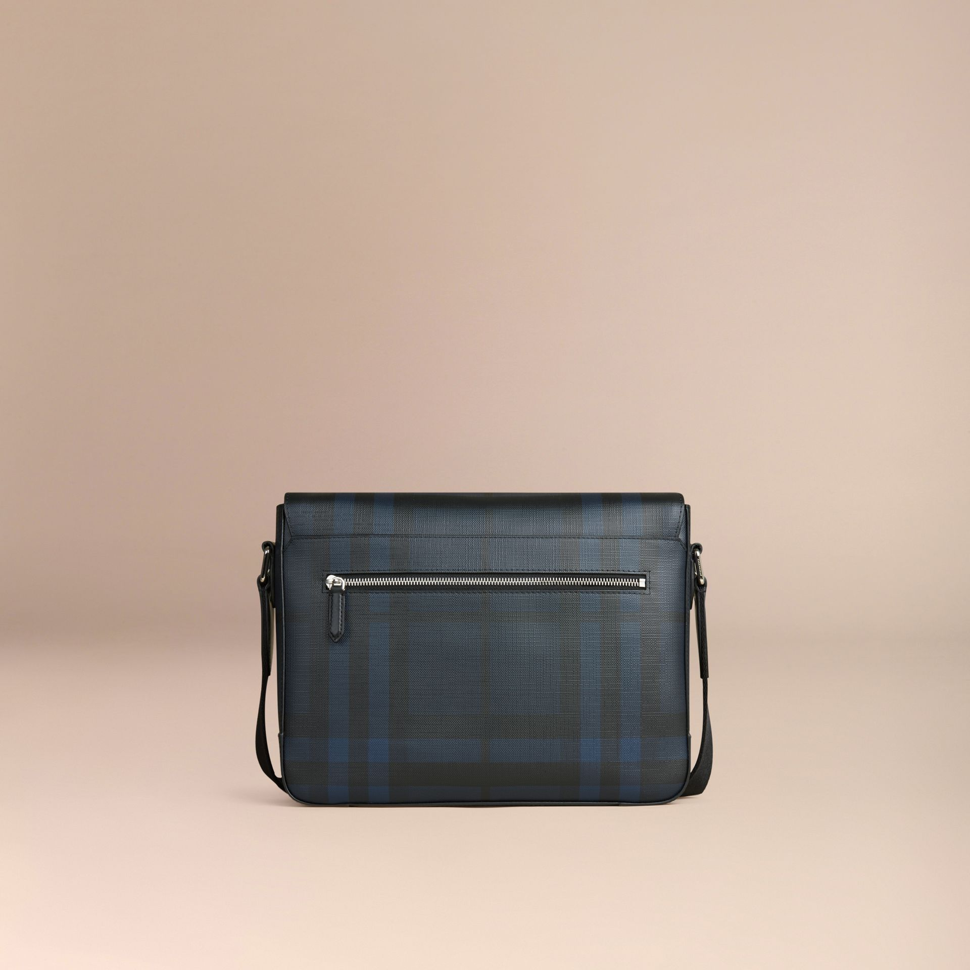 Navy/black Small London Check Messenger Bag Navy/black - gallery image 4