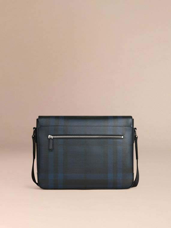 Navy/nero Borsa messenger piccola con motivo check London Navy/nero - cell image 3