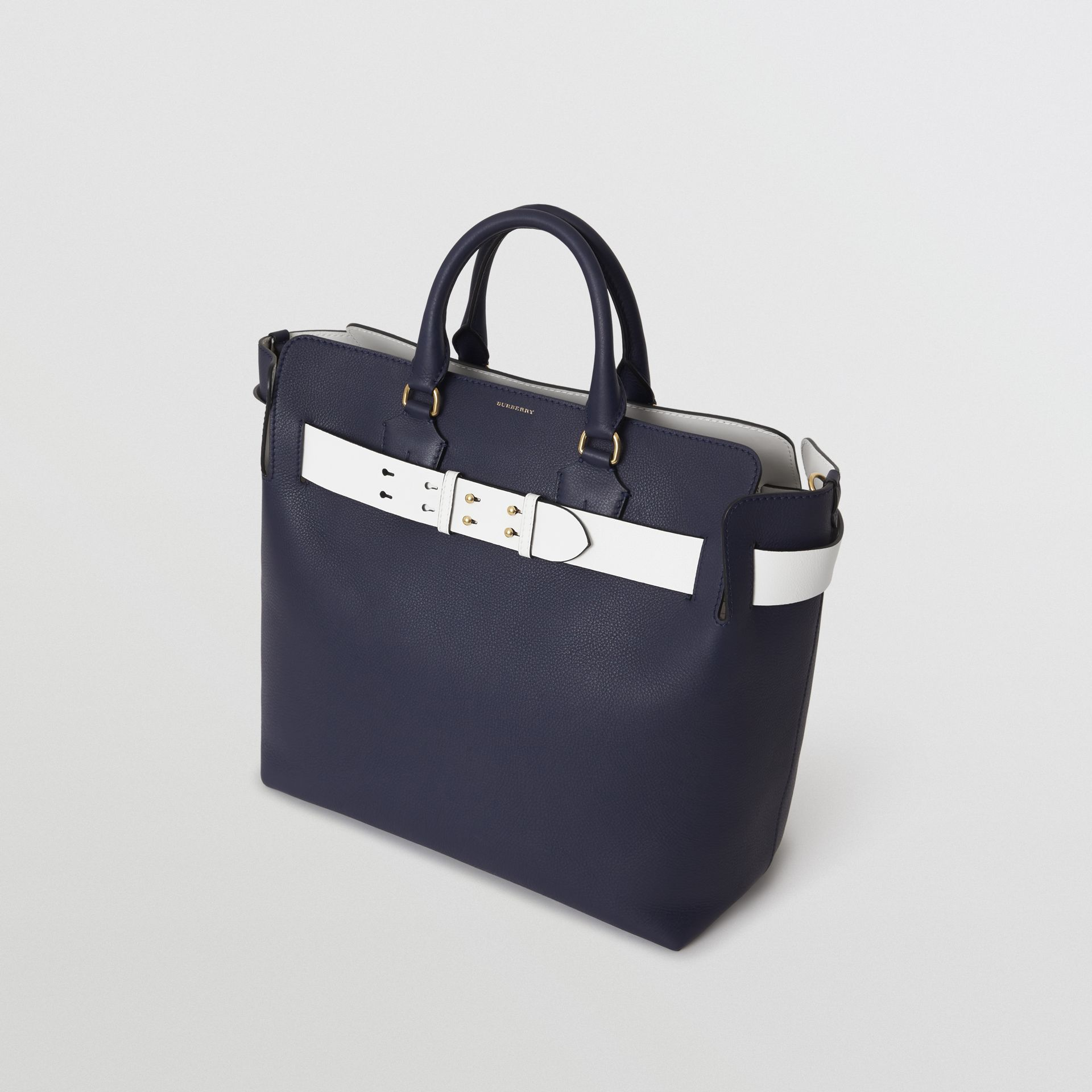 The Large Leather Belt Bag in Regency Blue | Burberry - gallery image 4