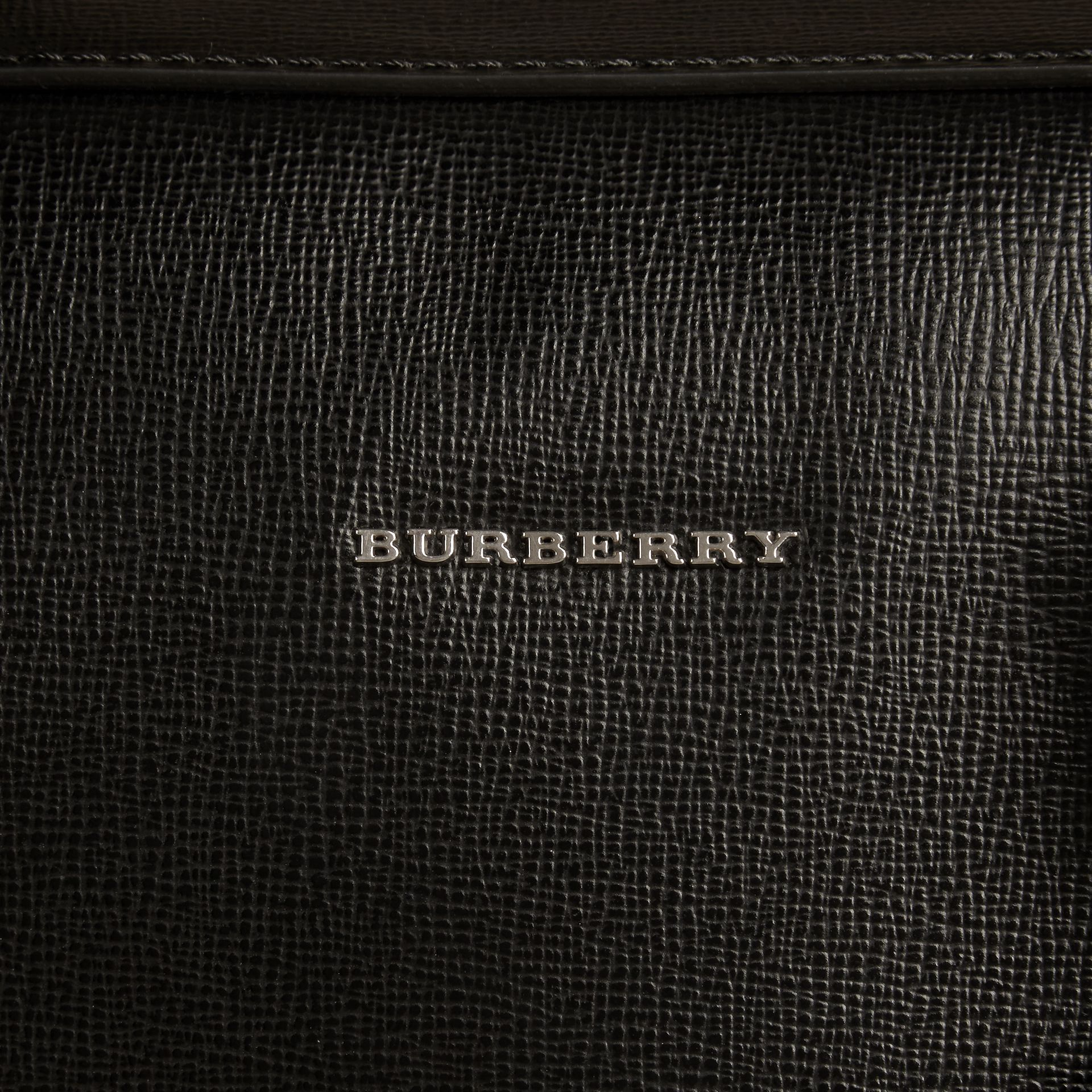 Black Large London Leather Briefcase Black - gallery image 2