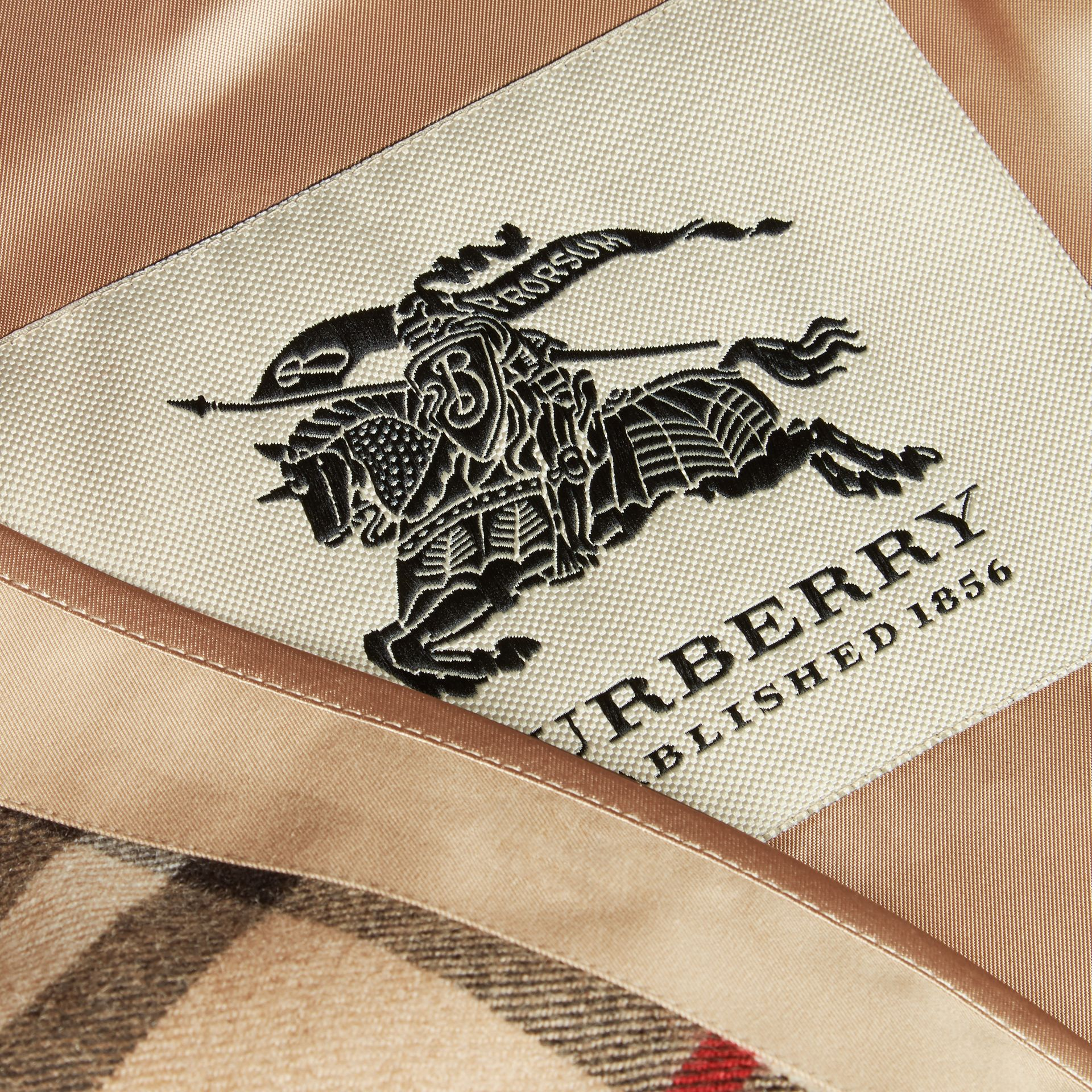Westminster-fit House Check Cashmere Wool Warmer in Camel - Men | Burberry - gallery image 1