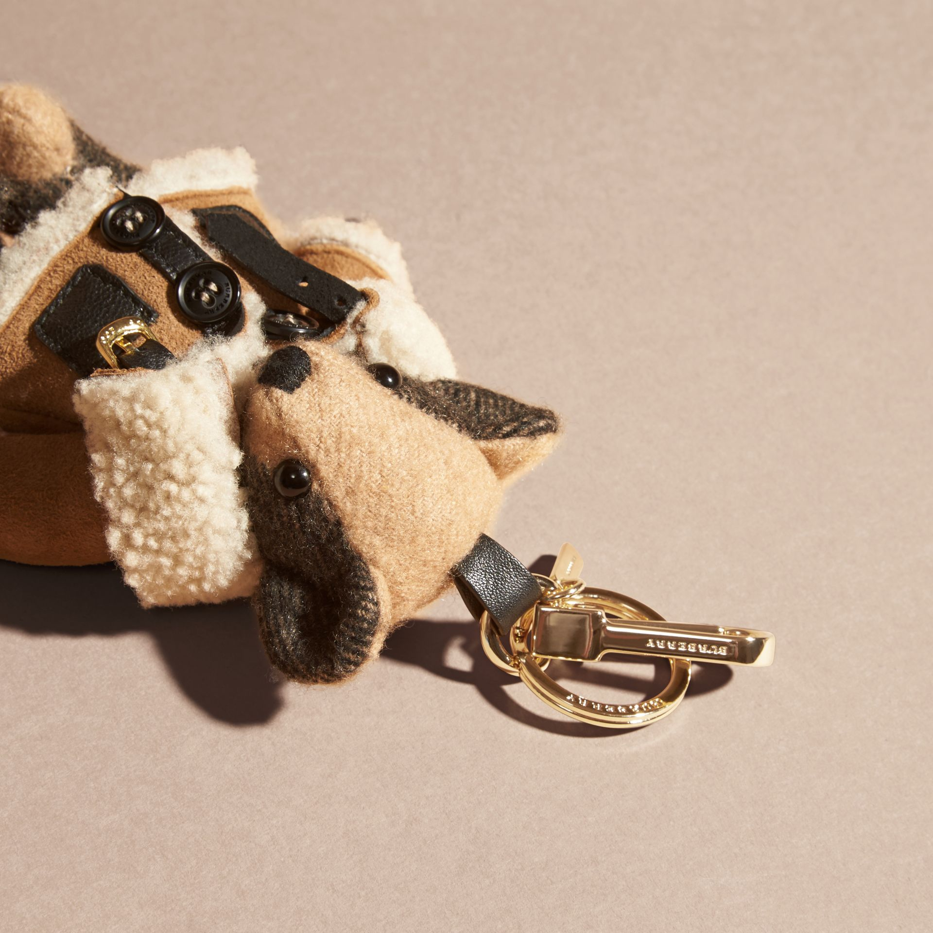 Thomas Bear Charm in Shearling Aviator Jacket - gallery image 2