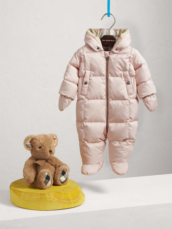 Down-filled Puffer Suit in Powder Pink
