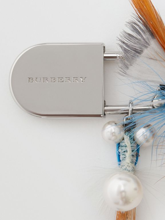 Feather Charm Palladium-plated Kilt Pin in Palladio - Women | Burberry - cell image 1