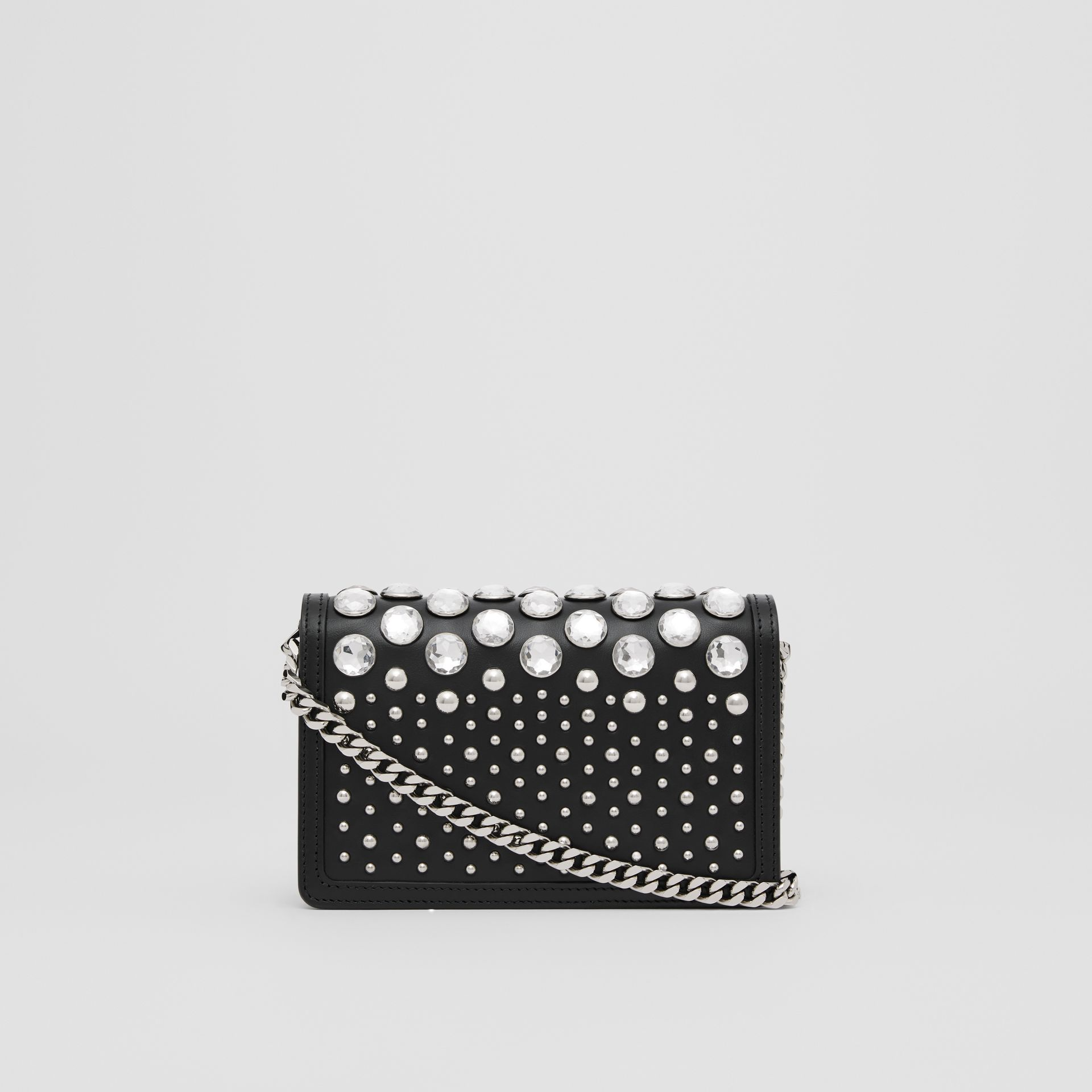 Mini Embellished Leather Shoulder Bag in Black - Women | Burberry - gallery image 7