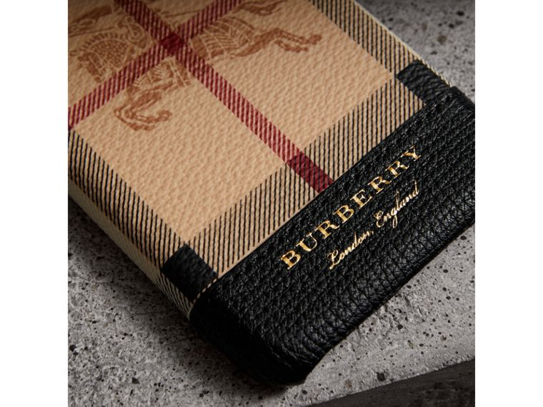 Haymarket Check and Leather iPhone 7 Case in Black | Burberry - cell image 1