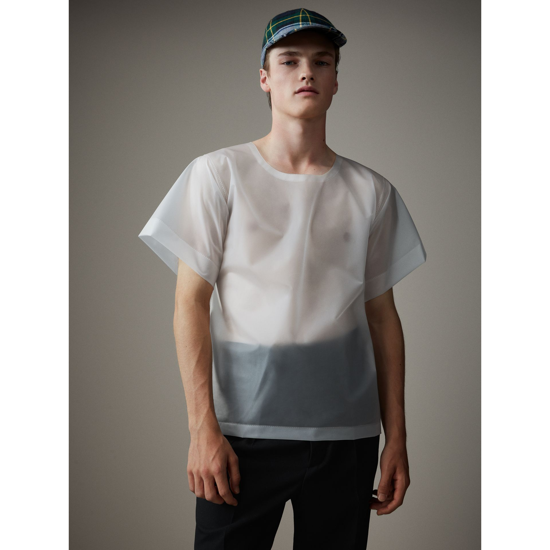 Soft-touch Plastic T-shirt in Transparent - Men | Burberry - gallery image 1