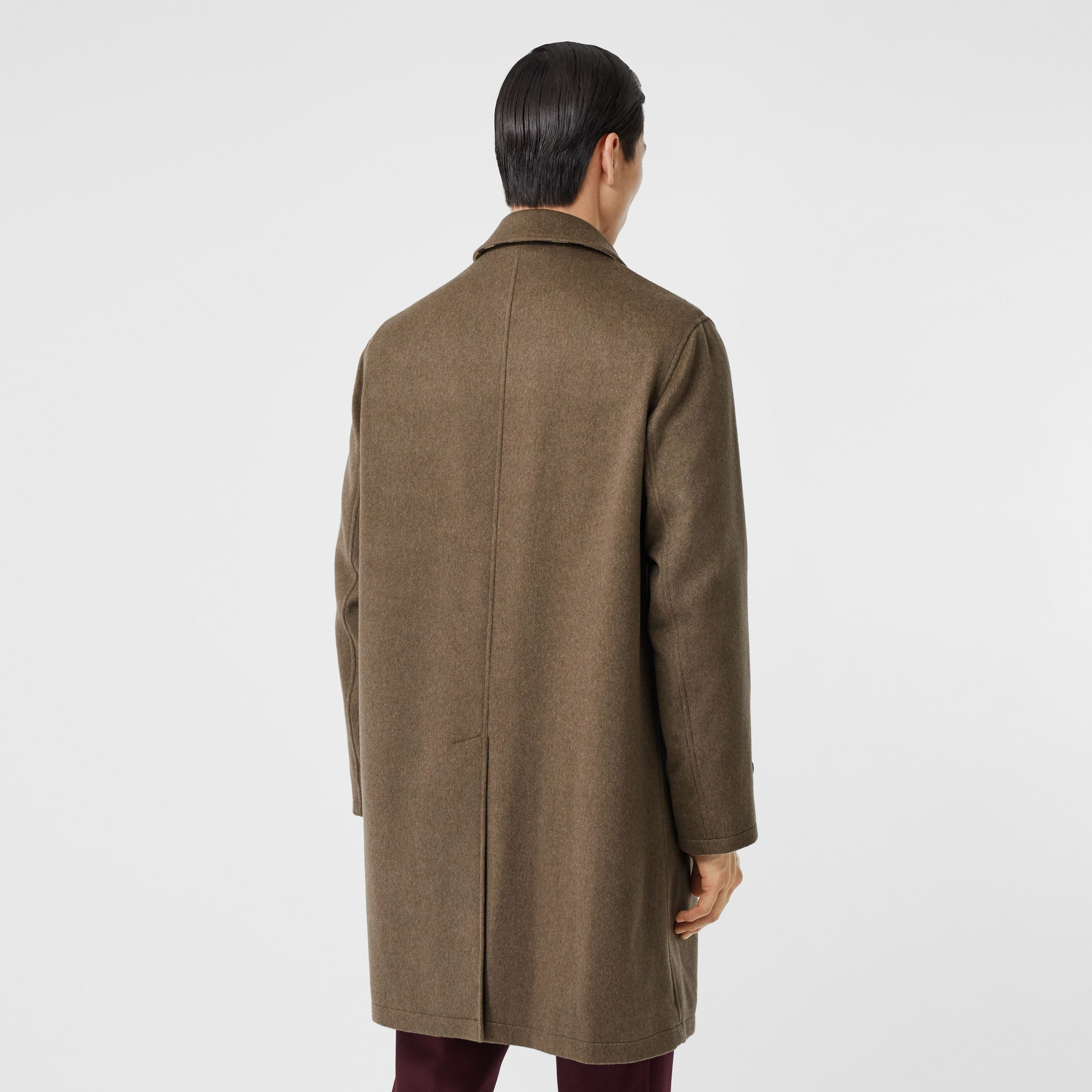 Cashmere Car Coat in Deep Taupe Melange - Men | Burberry - 3