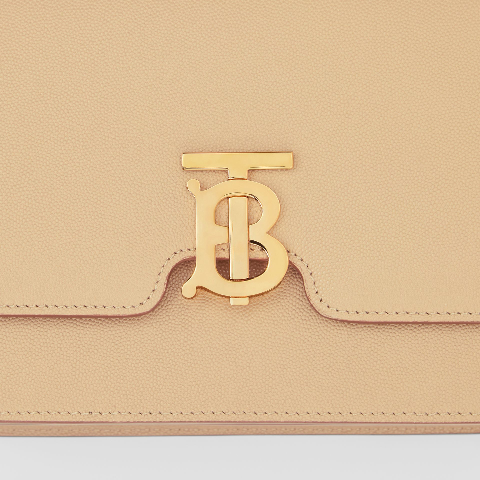 Medium Grainy Leather TB Bag in Archive Beige - Women | Burberry Australia - gallery image 1