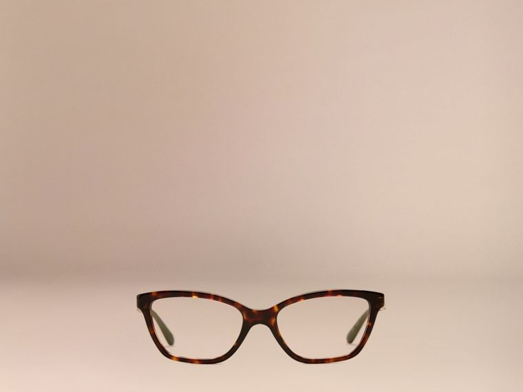 Check Detail Cat-eye Optical Frames Tortoiseshell - cell image 1