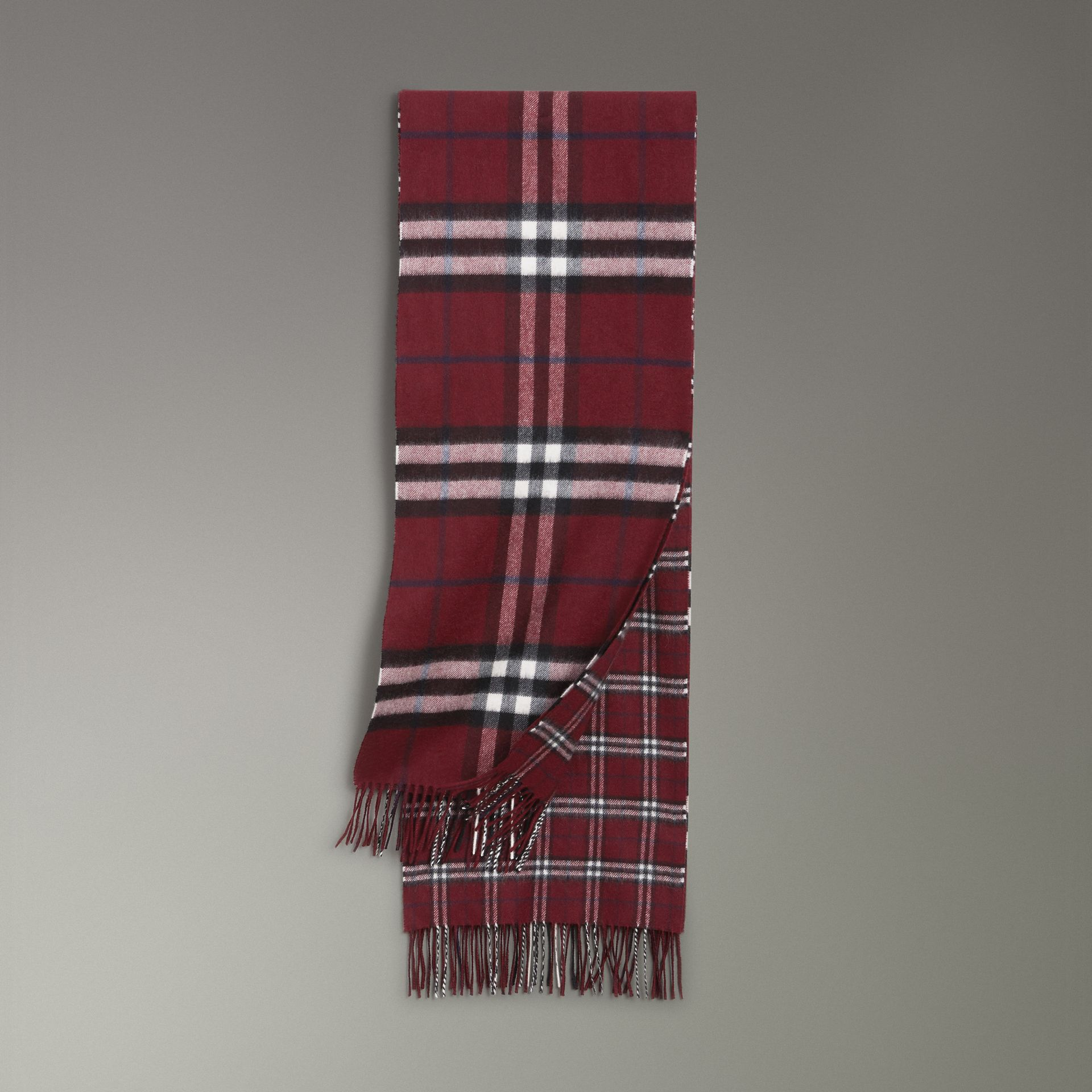 Gosha x Burberry Check Cashmere Double Scarf in Claret | Burberry - gallery image 0
