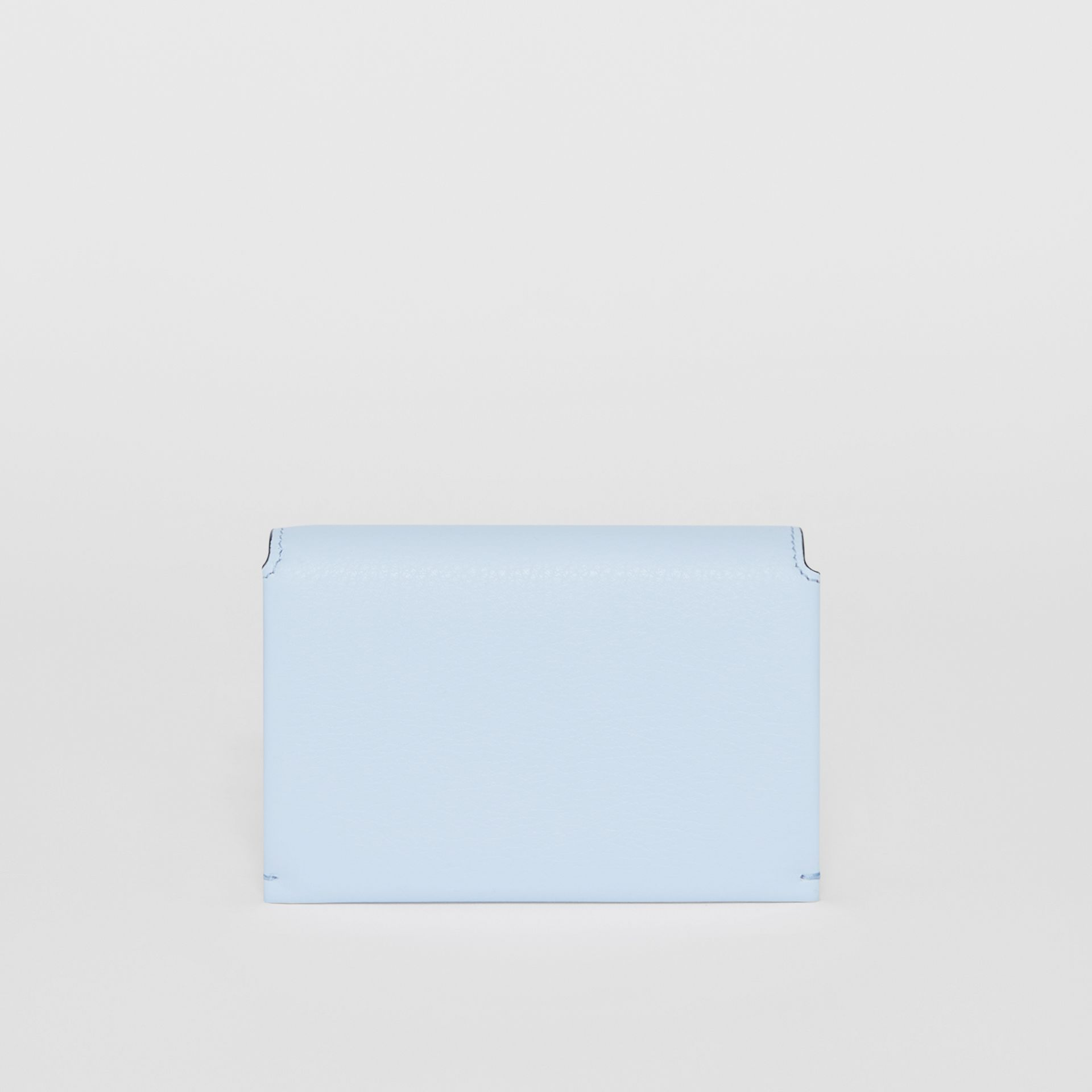 Triple Stud Leather Folding Wallet in Pale Blue - Women | Burberry Singapore - gallery image 4