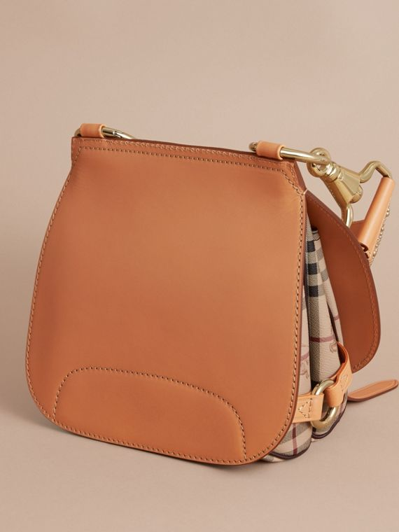 The Bridle Bag in Fruit and Flowers Riveted Leather Pale Clementine - cell image 3