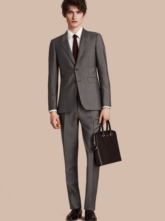 The Chelsea – Slim Fit Wool Mohair Suit Mid Grey
