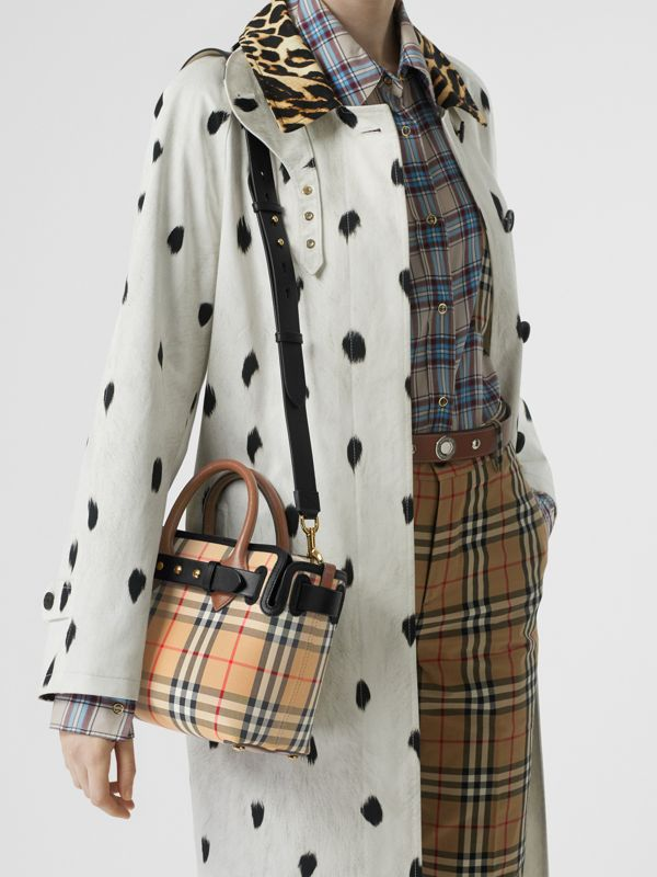 The Mini Vintage Check Triple Stud Belt Bag in Archive Beige - Women | Burberry Australia - cell image 2