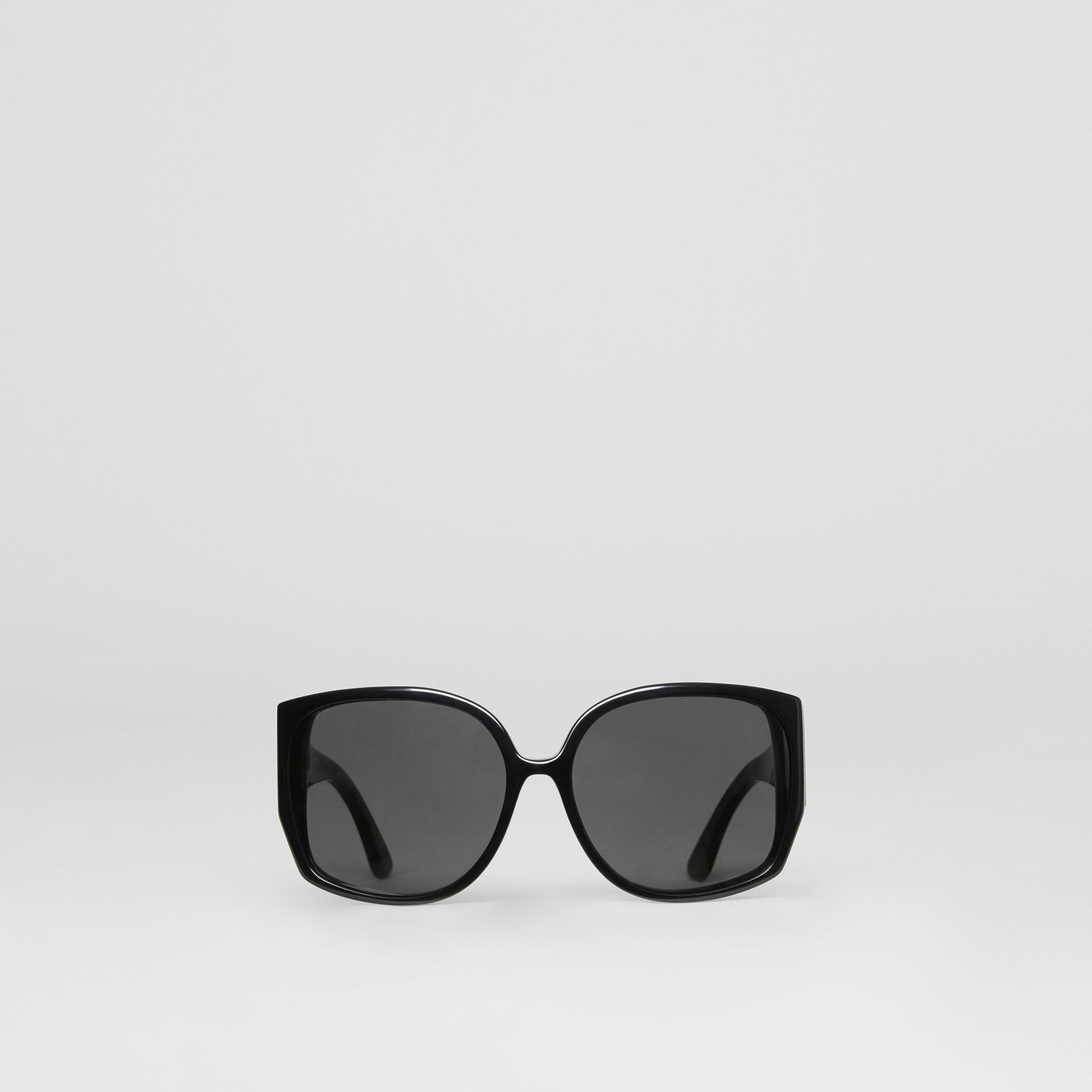 Oversized Butterfly Frame Sunglasses in Black - Women | Burberry - 1