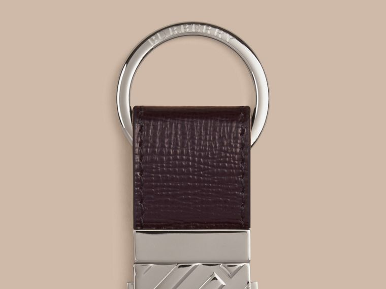 Wine London Leather Valet Key Ring Wine - cell image 1