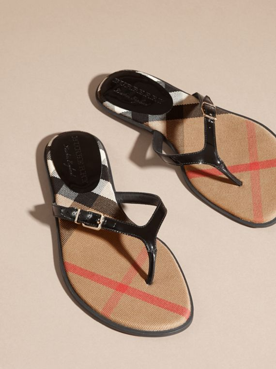 House Check and Patent Leather Flip-flops - cell image 2