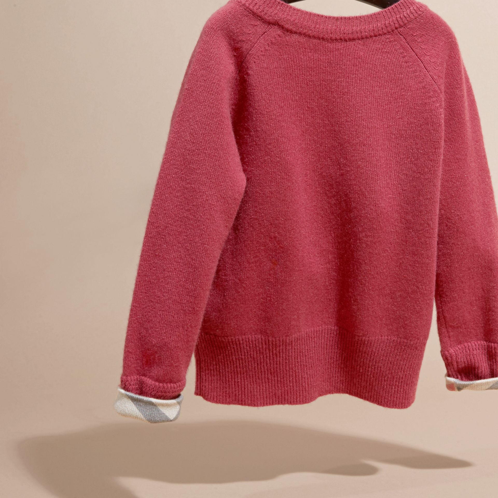 Peony rose Check Cuff Cashmere Sweater Peony Rose - gallery image 4