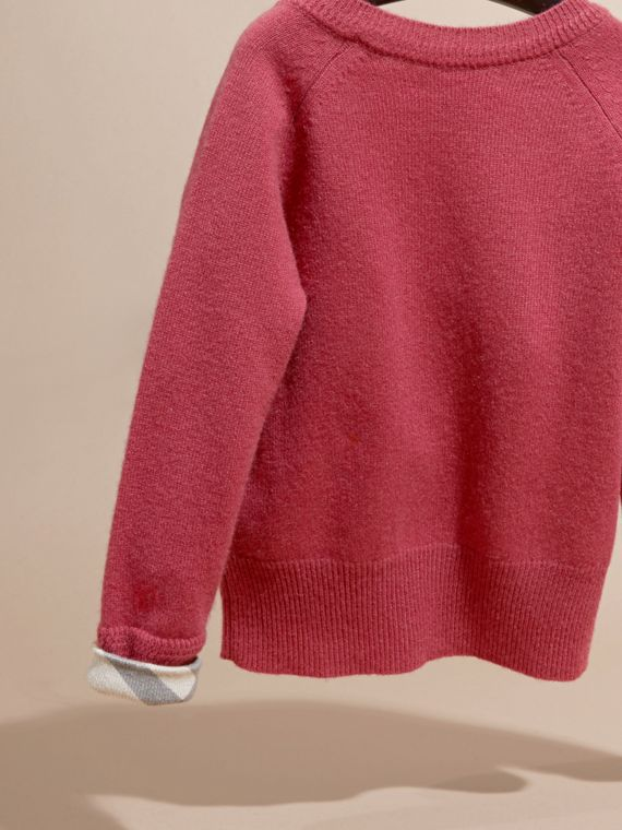 Peony rose Check Cuff Cashmere Sweater Peony Rose - cell image 3