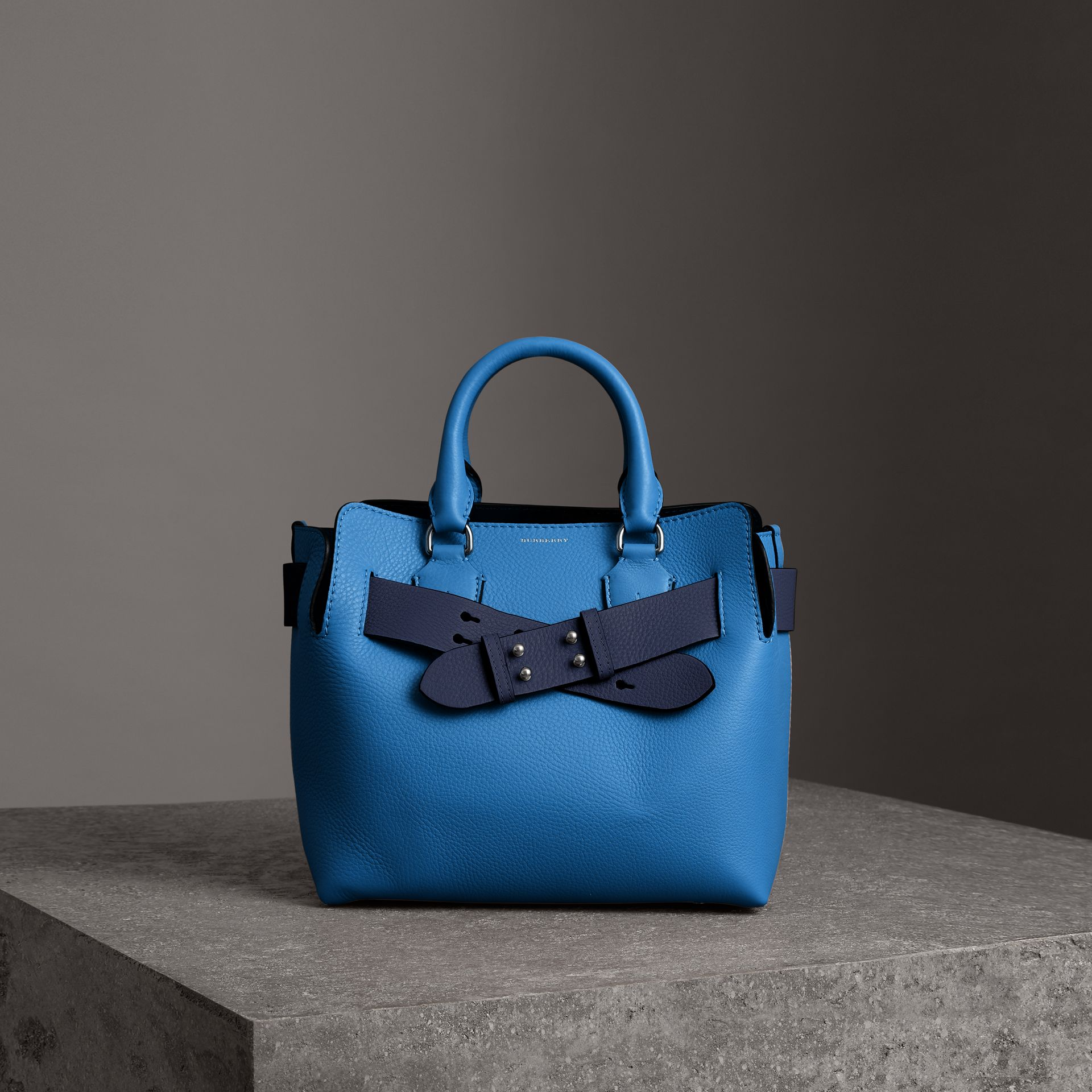 The Small Leather Belt Bag in Hydrangea Blue - Women | Burberry Singapore - gallery image 0